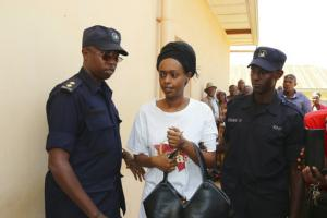 Diane Rwigara lors de son procès le 6 octobre 2017.<br />