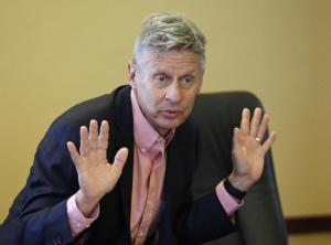 Le libertarien Gary Johnson<br />