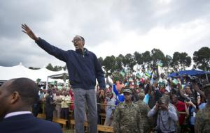 Le président Paul Kagame en 2015.<br />