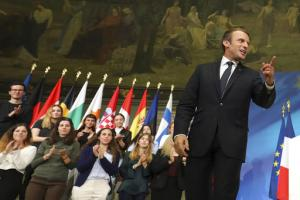 Emmanuel Macron à la Sorbonne le 26 septembre 2017<br />