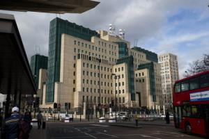 L'immeuble du MI6 à Londres.<br />