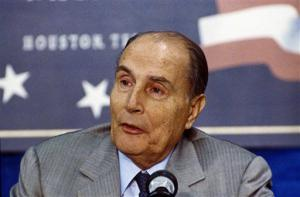 François Mitterrand en 1990<br />
