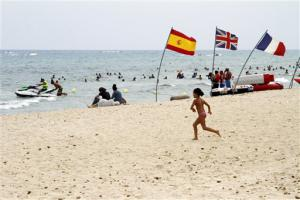 Plage tunisienne en 2015.<br />
