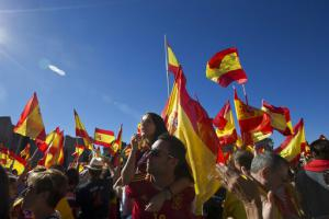 Manifestation contre la séparation à Madrid le 7 octobre<br />