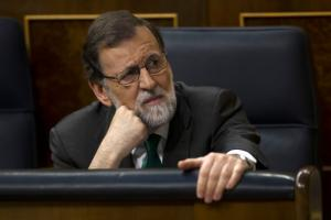 Mariano Rajoy lors du débat parlementaire le 31 mai 2018<br />