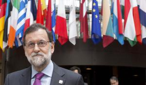 Mariano Rajoy lors d'un sommet europeen à Bruxelles, en avril 2017<br />