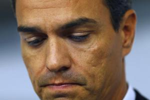 Pedro Sanchez après son éviction de la direction du PSOE, le 30 septembre 2016<br />