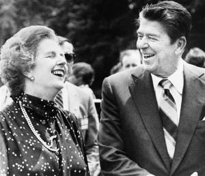 Margaret Thatcher avec Ronald Reagan en 1981<br />