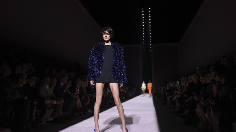 Défilé Tom Ford collection Printemps lors de la New York Fashion Week, le 6 septembre 2017.