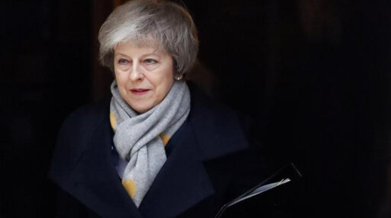 Theresa May quittant le 10, Downing Street le 15 janvier 2019.<br /> <sub>(AP Photo/Frank Augstein) </sub>