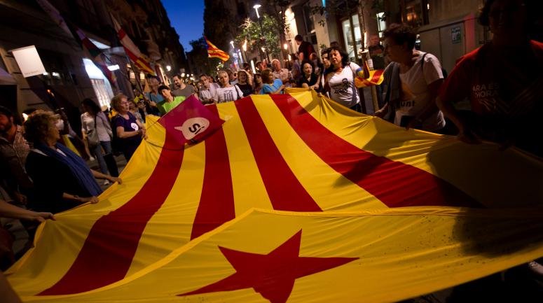"La diada (fête ""nationale"") du 11 septembre 2017 à Barcelone.<br />