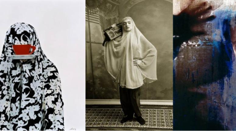 Like everyday 2000, Qajar 1998, , Be colorfoul 2002, trois oeuvres de l'iranienne Shadi Ghadirian