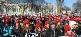 Manifestants anti avortement à Washington le 22 janvier 2014 - AFP