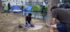 Camp de migrants à Porte de la Chapelle/ 17/08/17