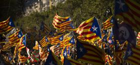 "A Barcelone lors de la ""Diada"" du 11 septembre 2017.<br />