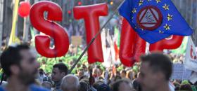 Manifestation contre le CETA à Bruxelles le 20 septembre 2016.<br />