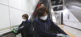 Escalators désinfectés <br />